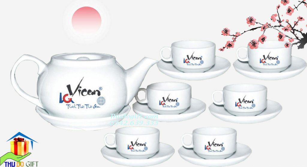 Bộ Ấm Chén Giang Tây– In Logo