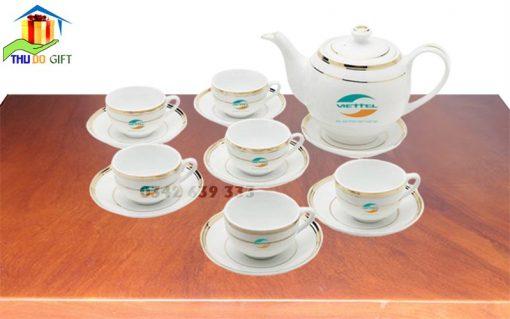 Bộ ấm trà in logo Viettel