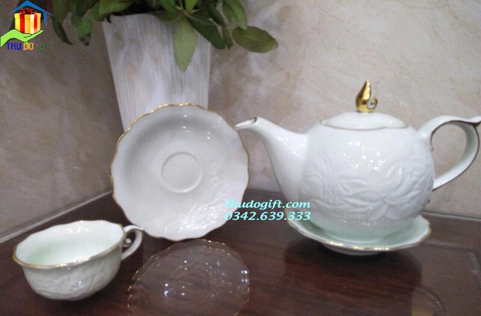Bộ trà Mẫu Đơn vàng kim