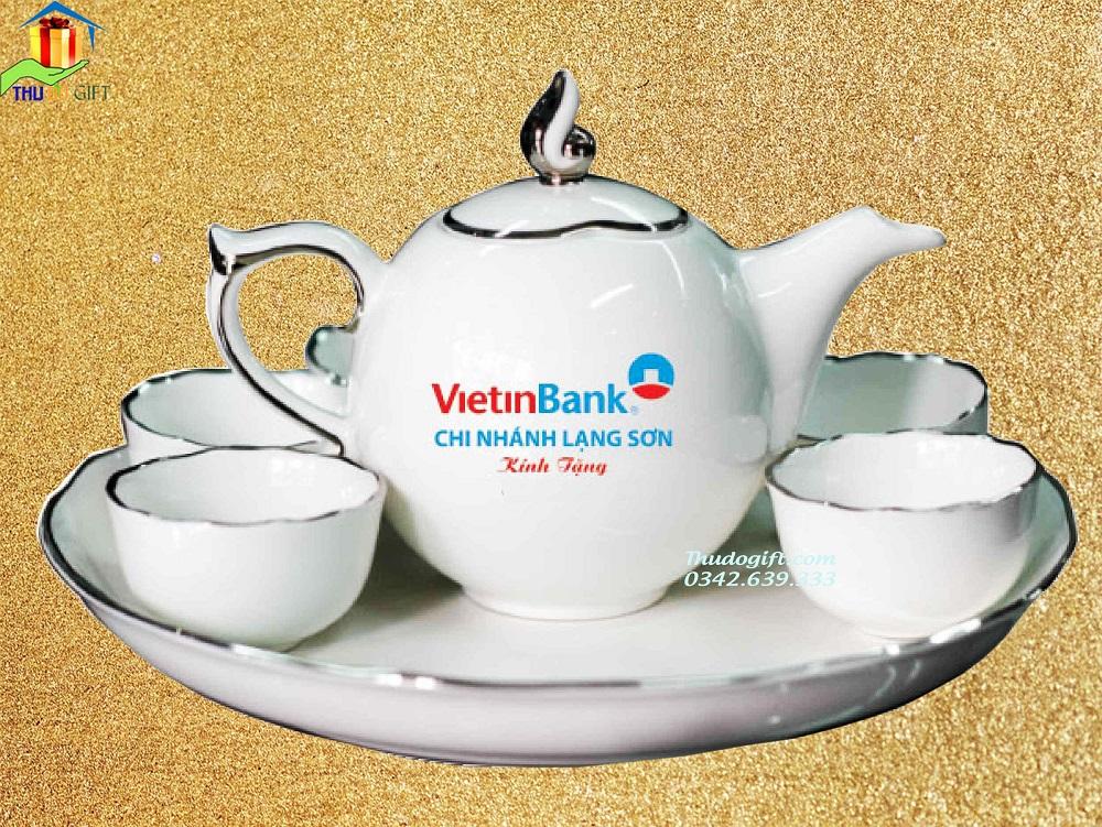 Bộ trà mẫu đơn chỉ Bạch Kim