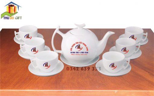 Bộ ấm trà bưởi cành in logo