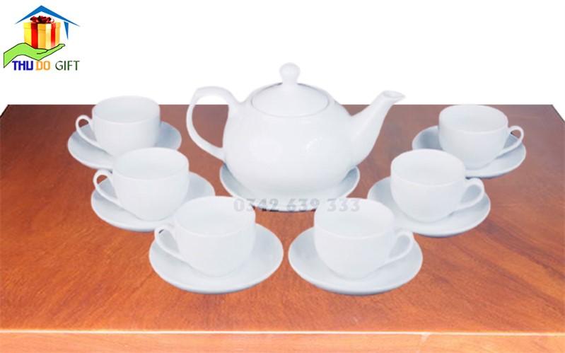 Bộ ấm trà dáng Giang Tây in logo theo yêu cầu