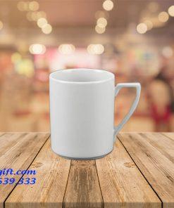 cốc trắng sứ quai số 7