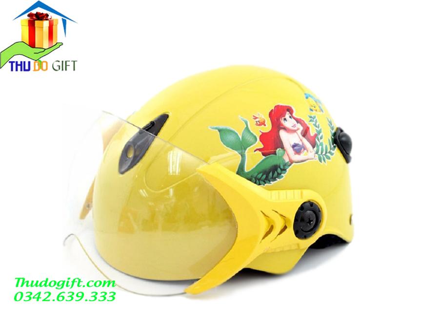 Mũ Bảo Hiểm Bé Gái Có Kính - MTK01