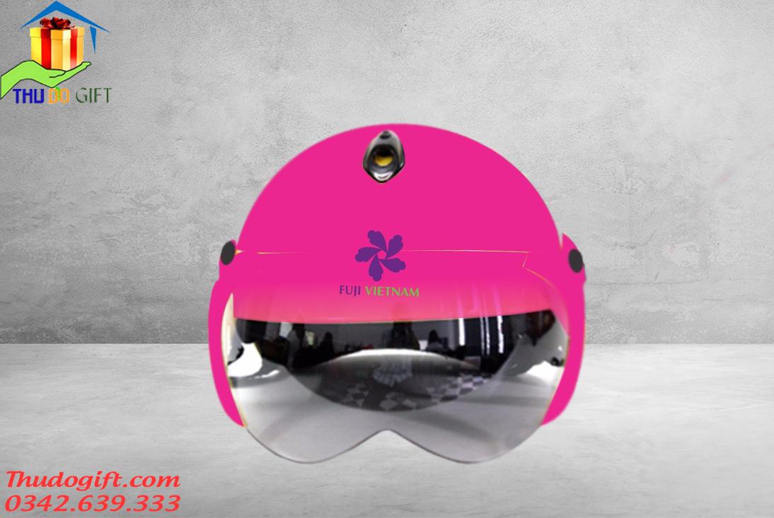 Mũ bảo hiểm bé gái có kính - MTK06