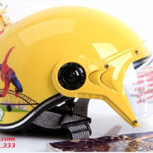 Mũ bảo hiểm bé trai có kính - MTK02