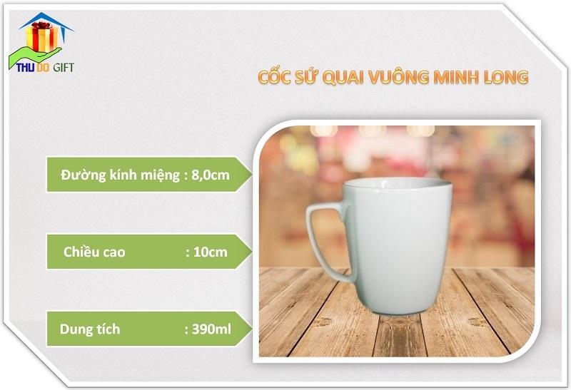 Thông Số Kỹ Thuật Cốc Quai Vuông Minh Long