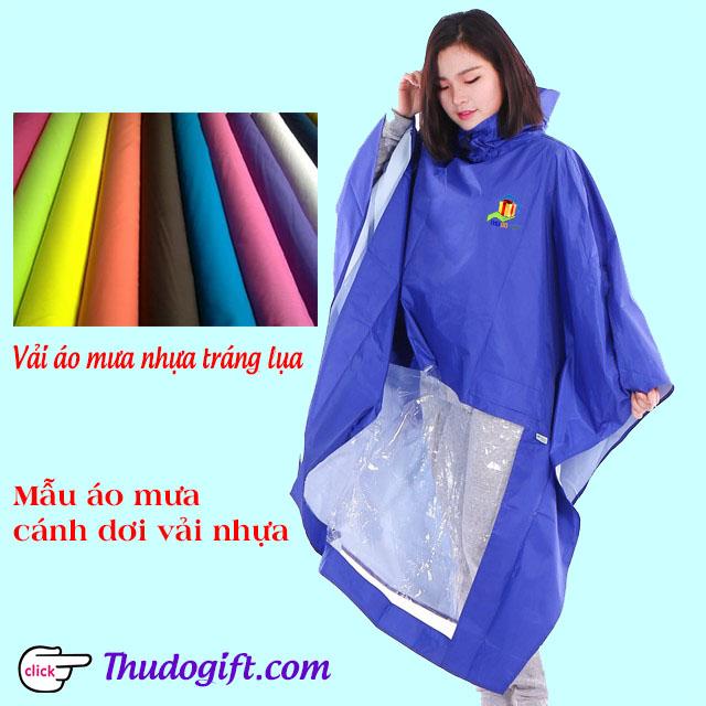 Áo mưa may theo chất liệu vải nhựa tráng lụa