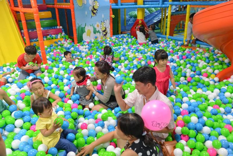Khu vui chơi nhà bóng tại Hưng Yên