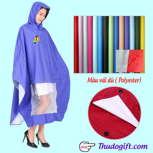 Mẫu áo mưa làm bằng chất liệu vải dù