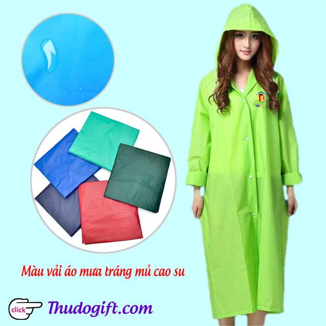 Mẫu áo mưa làm bằng chất vải tráng mủ cao su