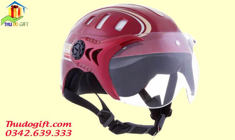 Mũ bảo hiểm có kính in logo