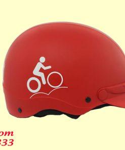 Mũ bảo hiểm không kính in logo