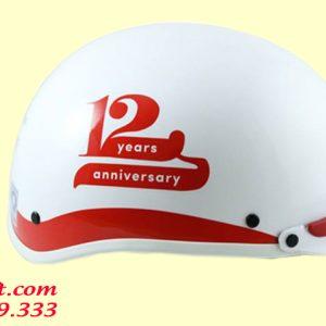 Mũ bảo hiểm kỷ niệm 12 năm thành lập công ty
