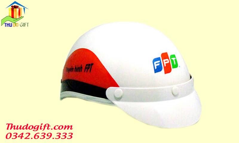 Mũ bảo hiểm in logo FPT