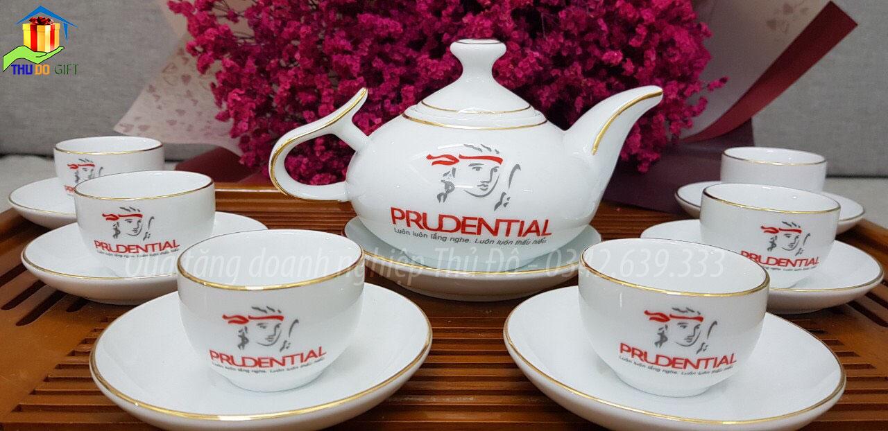 Ấm trà dáng Hàn Quốc in logo