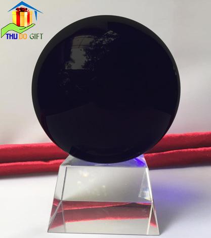 Quả cầu pha lê phong thủy màu đen