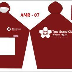 Áo mưa cánh dơi vải dù in logo Tms Grand City