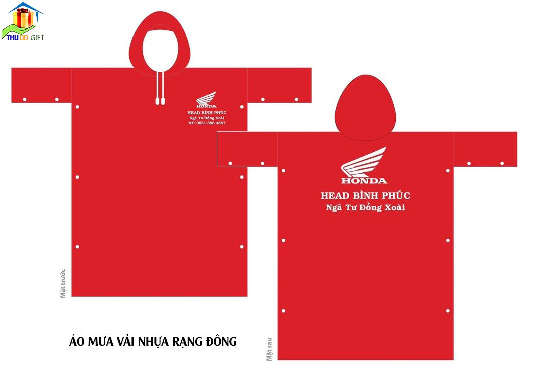 Áo mưa in logo HonDa
