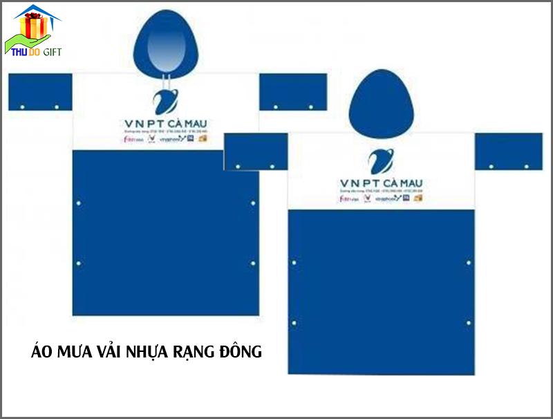 Áo mưa in logo VNPT