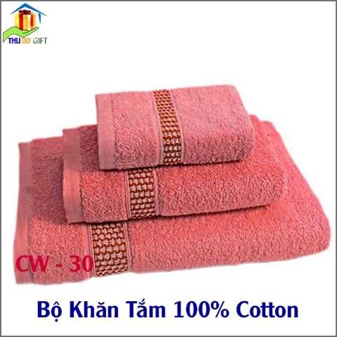 Bộ Khăn Tắm 100% Cotton (3)