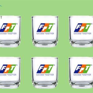 Bộ cốc thủy tinh in logo FPT