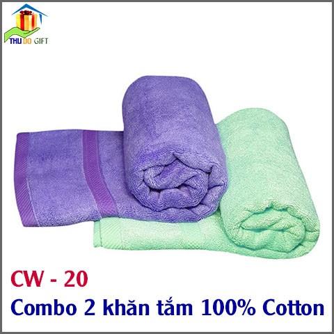 Combo 2 khăn tắm 100% Cotton (1)