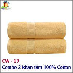 Combo 2 khăn tắm 100% Cotton CW 19