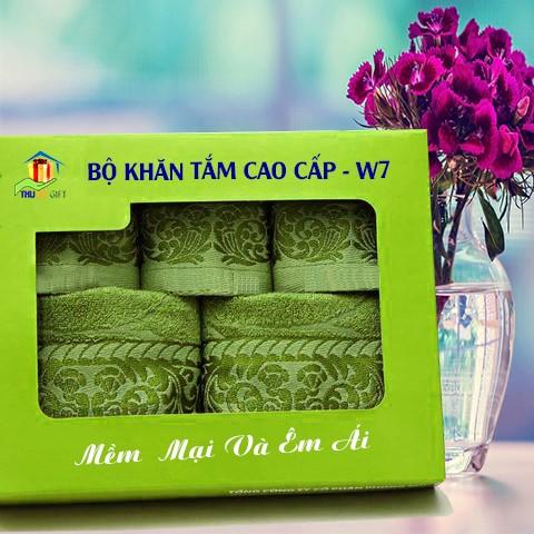 Combo Khăn Bamboo Quà Tặng Cao Cấp CW7