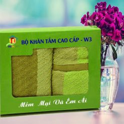 Combo Khăn Cotton Quà Tặng Cao Cấp