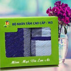 Combo Khăn Cotton Quà Tặng Cao Cấp 3
