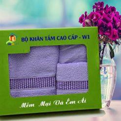 Combo Khăn Cotton Quà Tặng Cao Cấp CW1