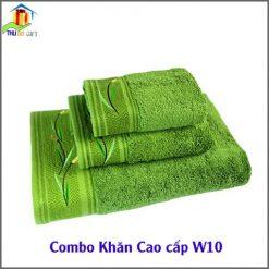 Combo Khăn Cotton Quà Tặng Cao Cấp CW10