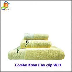 Combo Khăn Cotton Quà Tặng Cao Cấp CW11