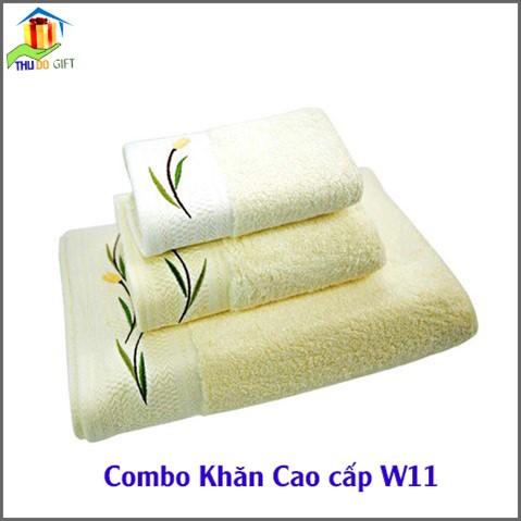 Combo Khăn Cotton Quà Tặng Cao Cấp CW11 (2)