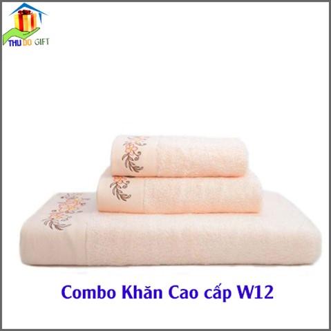 Combo Khăn Cotton Quà Tặng Cao Cấp CW12