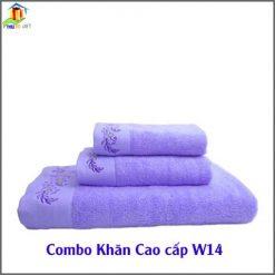 Combo Khăn Cotton Quà Tặng Cao Cấp CW14