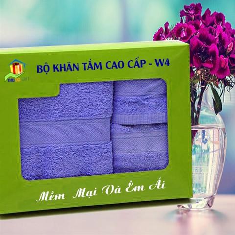 Combo Khăn Cotton Quà Tặng Cao Cấp CW4