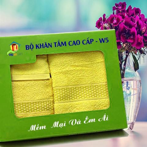 Combo Khăn Cotton Quà Tặng Cao Cấp CW5
