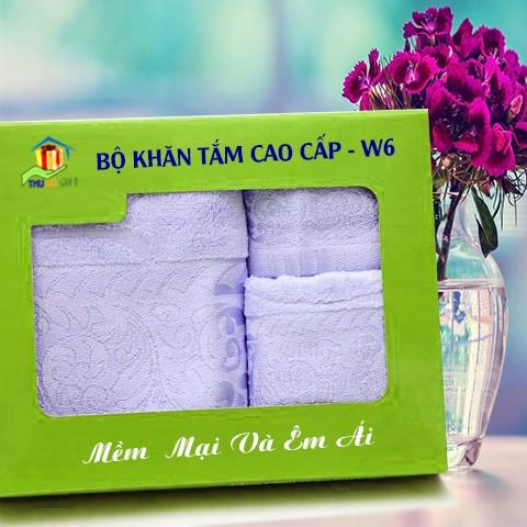 Combo Khăn Cotton Quà Tặng Cao Cấp CW6