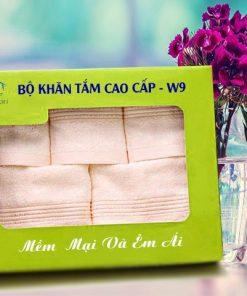 Combo Khăn Cotton Quà Tặng Cao Cấp CW9