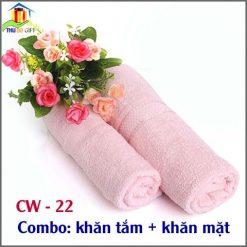 Combo khăn tắm + khăn mặt sợi tre