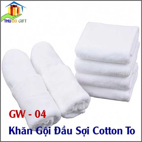 Khăn gội đầu sợi Cotton To