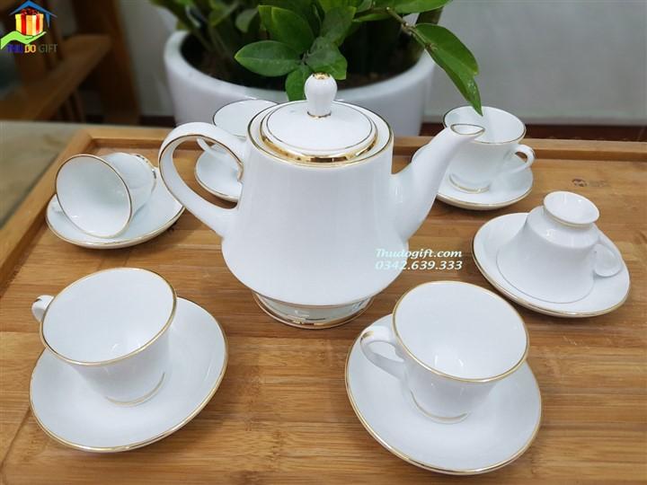 Bộ ấm trà Hàng Gia in logo đại hội đảng