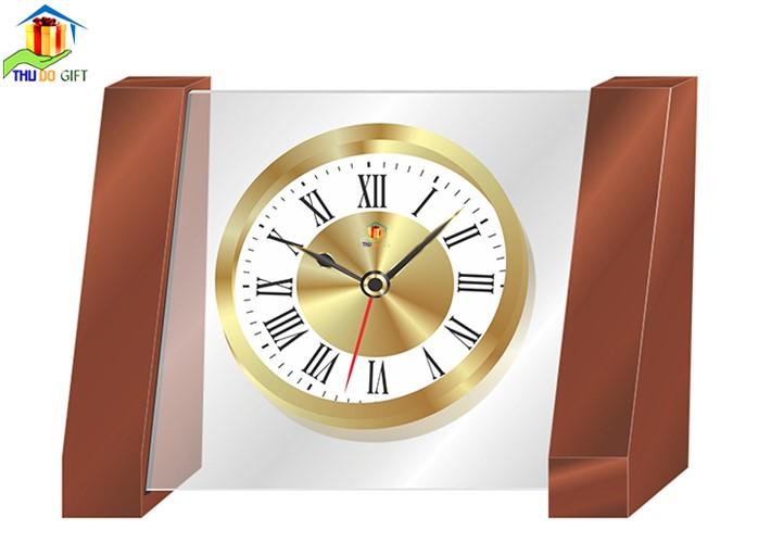 Đồng hồ để bàn DHB- 03 in logo đại hội Đảng