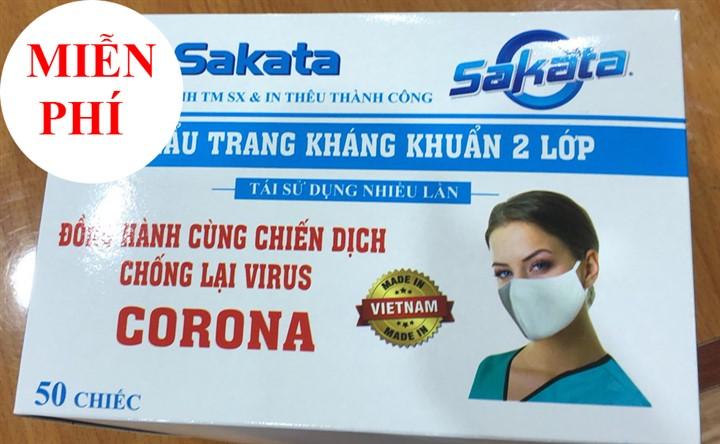 Khẩu trang kháng khuẩn miễn phí cho đại hội Đảng