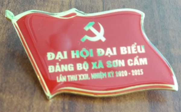 Huy hiệu đại hội Đảng - huy hiệu lá cờ