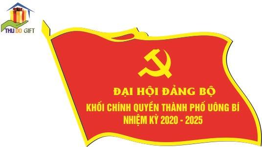 Phù hiệu lá cờ khố chính quyền thành phố Uông Bí