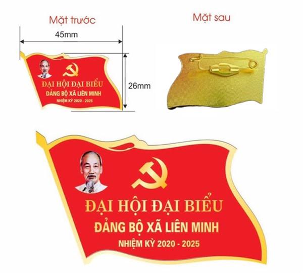 Kích thước huy hiệu lá cờ