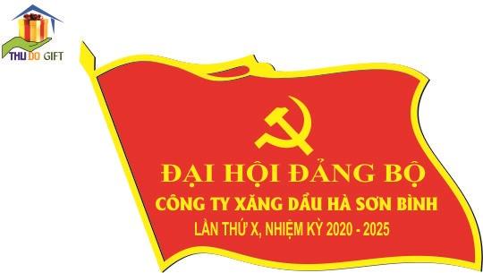 Phù hiệu đại hội công ty xăng dầu Hà Sơn Bình
